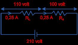 Tegangan yang tadinya 210 volt dari sumber listrik ...